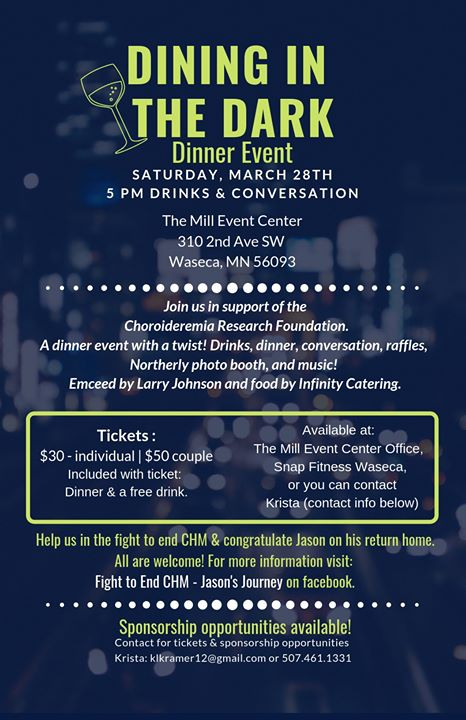 Dining in the Dark March 28 info